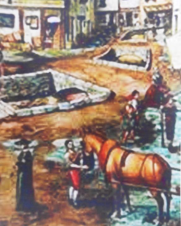 Dibuix del Rec Comtal a Barcelona