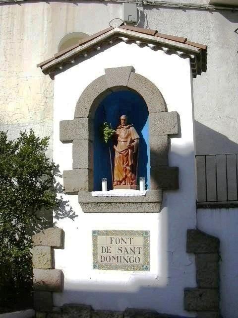 Imatge de Sant Domingo a sobre de la Font