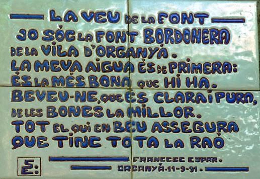 Font Bordonera - Organya