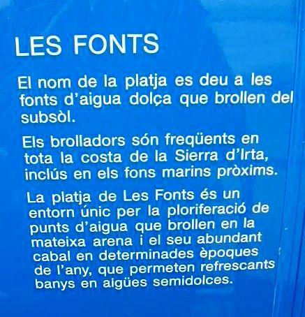 Alcossebre - Les Fonts - Cartell
