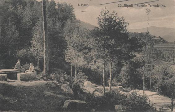 Font de Terradellas a principis del Segle XX (Ripoll)